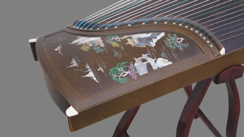 Professional Performing Carved Nanmu Wood Guzheng Instrument Chinese Zither by Sound-Of-Mountain