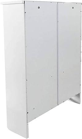 GX&XD - Armario de baño de Madera con 2 Puertas y 1 Estante para la Pared: Amazon.es: Hogar