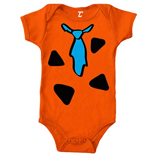 Tcombo Cartoon Caveman Costume - Cute Funny Bodysuit (Orange, 18 Months) -