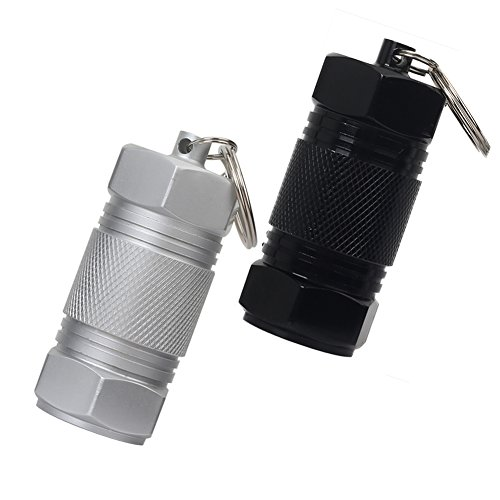 HRX Package Travel Aluminum Alloy Pill Case, Large Capacity Waterproof Dry Pill Box Bottle Holder for Keychain Purse Pocket Outdoor Hiking Camping - Canisters Hunting