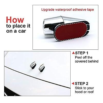 ÁTOMO OLA Upgraded Version Deer Whistles Silver Deer Whistles for Car/Motorcycle, Detachable Deer Horns Deer Alert for Vehicles (4 Pack): Automotive