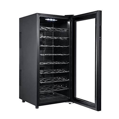 Haier 36 Bottle Wine Cellar At Home Compact Mini Fridge Beverage Cooler Rack