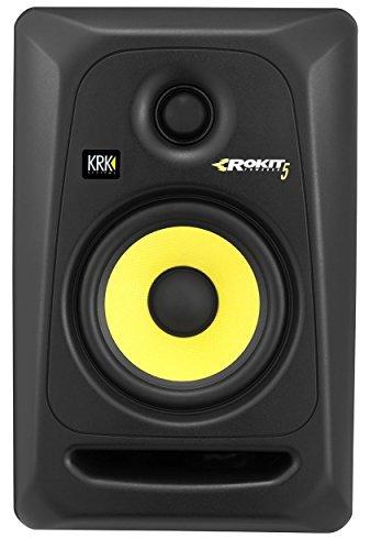 (2) KRK RP5-G3 Rokit Powered 5'' Powered Studio Monitors+Stands+Studio Foam Pads