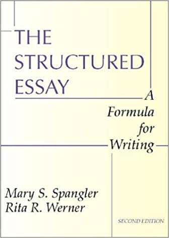 com the structured essay a formula for writing the structured essay a formula for writing 2nd edition