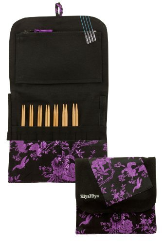 HiyaHiya Interchangeable 5-inch (13cm) Bamboo Knitting Needle Set; Small Tip Sizes (US 2-8) HIBINKIT5SM by HiyaHiya