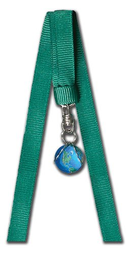 - Bookmark Blue Earth Marble, Silver-Plated Findings,10 Inch Long Ribbons, Half Inch Diameter Earth