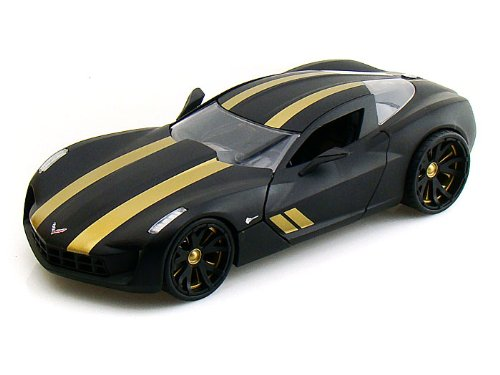 2009 Chevy Corvette Stingray Concept LOPRO 1/24 Black w/ extra rims