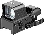 UUQ 1X22X32 Red Green Dot Sight 4 Reticles Reflex Sight W/Quick Detach Mount & 20mm