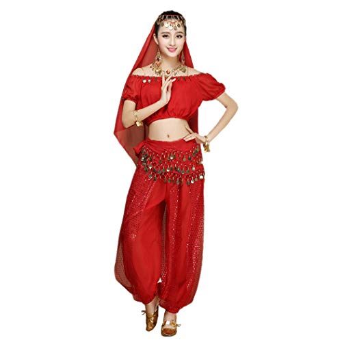 Maylong Women's Short Sleeve Belly Dancing Outfit Halloween