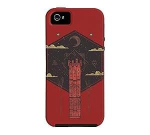 The Crimson Tower iPhone 5/5s Red Tough Phone Case - Design By Humans wangjiang maoyi