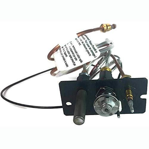 Propane Gas - Majestic 10002265 OEM Replacement 3 Way Pilot Assembly for Propane Gas Fireplaces (Fireplace Pilot Light)