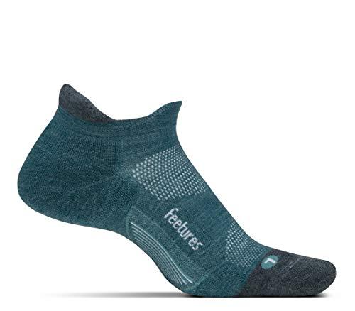 (Feetures - Merino 10 Ultra Light - No Show Tab - Athletic Running Socks for Men and Women - Emerald - Medium)