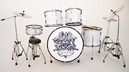 RGM328 Queen diseño de guitarra eléctrica de tambor para impresora A en miniatura para plnchar miniaturas Freddy Mercury Brian May John diácono Roger Taylor Bohemian Rapsody una noche en la ópera Kill