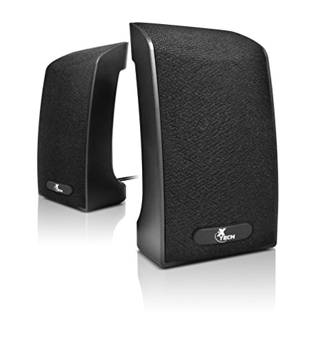 Xtech Americas USB-Powered Computer Speakers- Digital sound quality Stereo speakers, Great for Music, Movies, Gaming, 2. 0 Speaker system wired - America Usb Powered Speaker