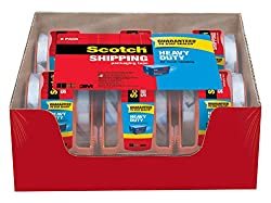 Scotch Heavy Duty Shipping Packaging Tape, 1.88 Inches X 800 Inches, 6  Rolls With Dispenser, 1.5 Inch Core (142 6)