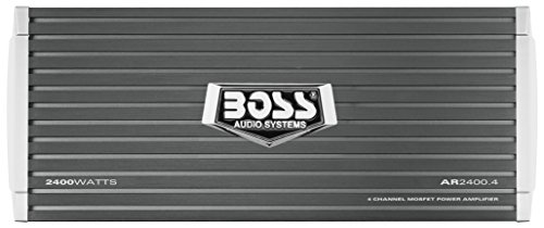 BOSS Audio AR2400.4 Armor 2400 Watt, 4 Channel, 2/4 Ohm Stable Class A/B, Full Range, Bridgeable, MOSFET Car Amplifier with Remote Subwoofer ()