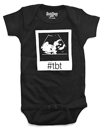 Sara Kety Funny Baby Romper Bodysuit Throwback Thursday Ultrasound for Newborn Girls and Boys]()
