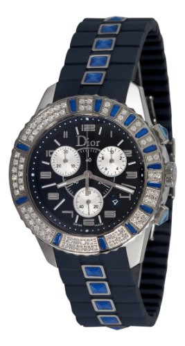 Christian Dior Women's CD11431IR001 Christal Chronograph Diamond Blue Dial Watch