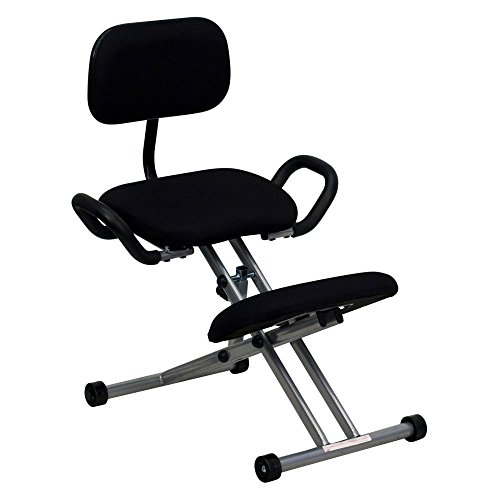 Flash-Furniture-Ergonomic-Kneeling-Chair-with-Handles-Black-Fabric