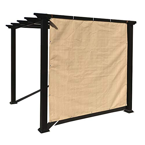 Alion Home Sun Shade Panel Privacy Screen with Grommets on 4 Sides for Outdoor, Patio, Awning, Window Cover, Pergola or Gazebo -200 GSM (10' x 6', Banha Beige)