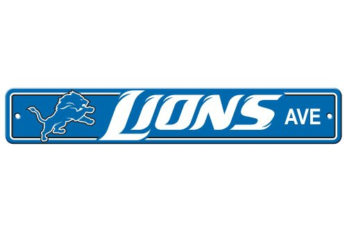 Fremont Die NFL Detroit Lions Plastic Street Sign