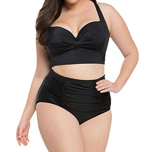 ff8bd546d1a10 Maillot De Bain Deux Pièces Bikini Grande Taille Rawdah Maillot De Bain  Taille Haute Femmes Plus Size ...