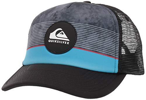 Quiksilver Boys' Big Stripe Pipe Youth Trucker HAT, Hibiscus, 1SZ (Little Boys Hat Quiksilver)