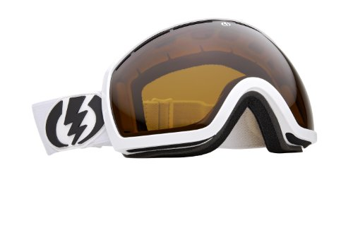 (Electric Visual EG2 Snow Goggle, Gloss White, Bronze)