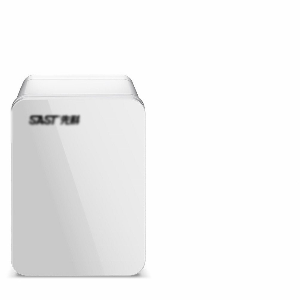 HOMEE @ Car Refrigerator 4L Small Mini-Cool Car Home Dual-Use Student Dormitory Home Small Refrigerator Warm and Cold Box,White,4L