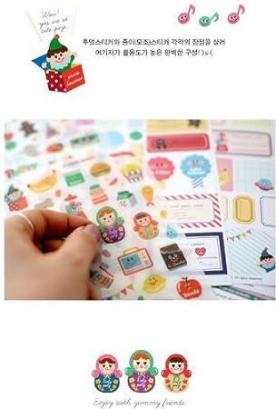 38Pcs Lovely Christmas Stickers DIY Scrapbook And Crafts Decorative Sticker UK