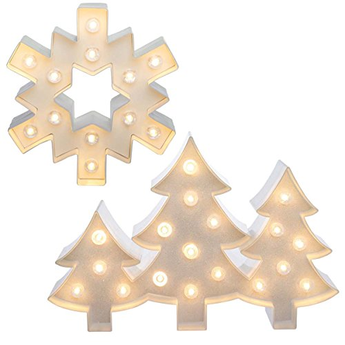 Heidi Swapp (Set of 2 LED Lighted Holiday Marquee Sign Kits Trees & Snowflake Christmas Décor Home Decoration ()