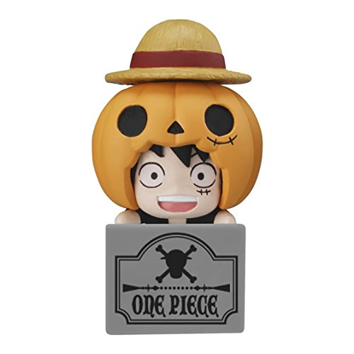 Bandai One Piece Double Earphone Plug Jack Mascot Figure~Halloween~Monkey D Luffy ()