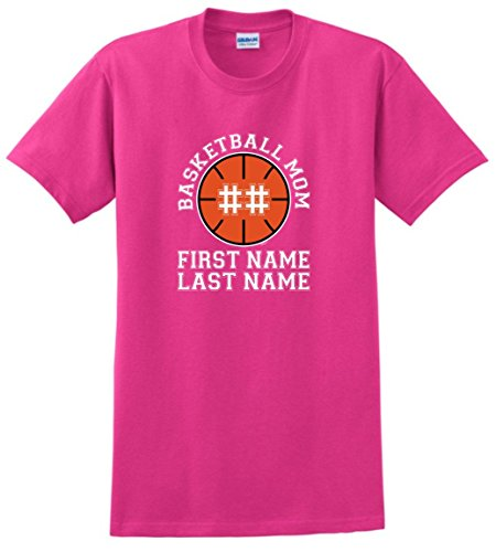 Personalized T-Shirt Personalized Basketball Mom Enter Name Number T-Shirt Medium Hlcna Ladies Personalized Basketball
