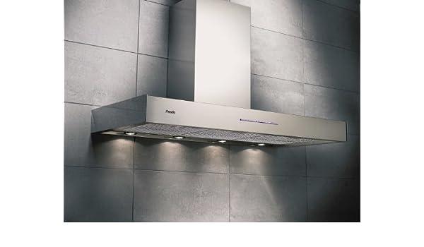 Pando P-131 940 m³/h De pared Acero inoxidable - Campana (940 m³/h, Canalizado, 39 dB, 55 dB, De pared, Acero inoxidable): Amazon.es: Hogar