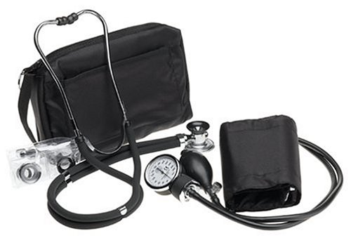 Prestige Sphygmomanometer & Stethoscope Kit with Matching Black Carrying Case