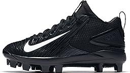 Nike Boy\'s Force Trout 3 BG Pro Baseball Cleats (4 Big Kid M, Black/White)