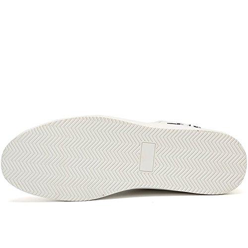 Sneaker Splice Vamp Lace Splice Uomo Il da da up Bianca Moda Vamp Libero Cricket Scarpe Scarpe per Flat Heel Tempo zvqrnzR