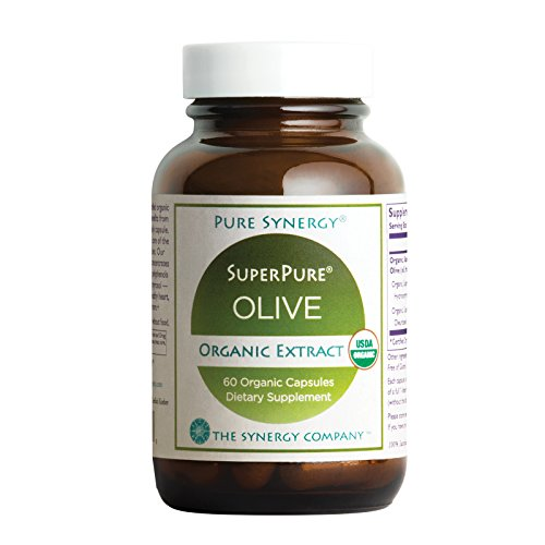 Pure Synergy USDA Organic SuperPure Olive Leaf, Oil, Fruit Extract (60 Capsules) w/ Oleuropein & Hydroxytyrosol