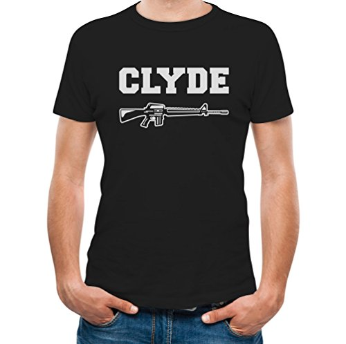 TeeStars Clyde - Matching Couples Valentine's Day Gift Men's T-Shirt Medium Black