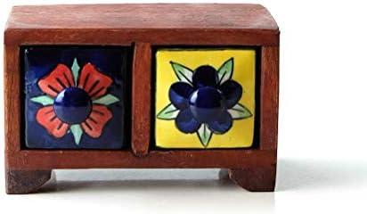 小物入れ 引き出し ミニチェスト 卓上 木製 陶器 アンティーク おしゃれ アクセサリーケース 整理 収納 小物ケース 小物収納