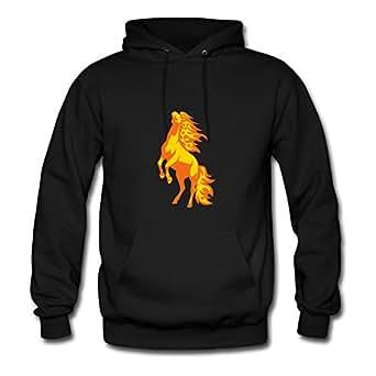Women Horse Sweatshirts -x-large Style Personality Designed Black