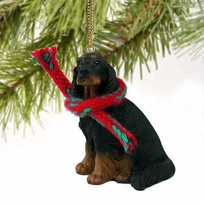 1 X Gordon Setter Miniature Dog Ornament