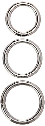 UPC 892280006175, M2m Cock Ring, Metal, Regular, 3 Piece Set, Chrome