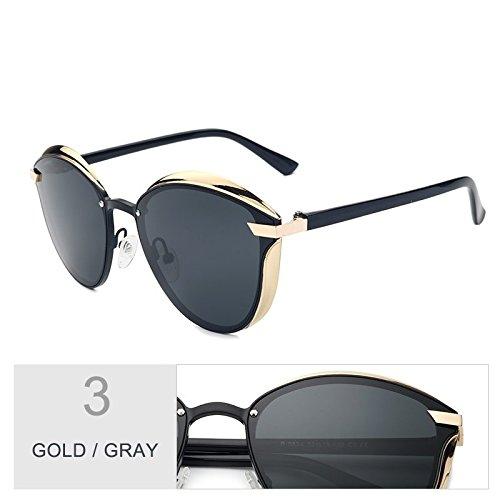 Las TIANLIANG04 De Escudo Gafas Piernas Uv400 Sol Anti Deslumbramiento De Gray Violeta Mujeres De Cat Polarizadas Gafas 3D Oro Eye Estilo Tan Gold gCCEpqwv