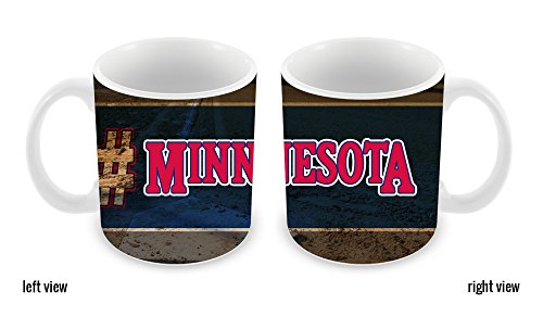 BleuReign(TM) Hashtag Minnesota #Minnesota Baseball Team 11oz Ceramic Coffee Mug
