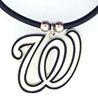 MLB Washington Nationals Rubber Cord Necklace