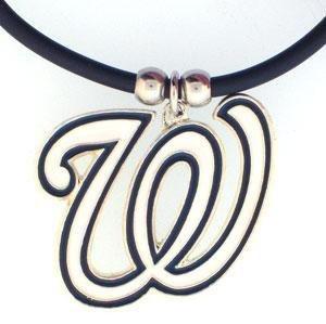 - MLB Washington Nationals Rubber Cord Necklace