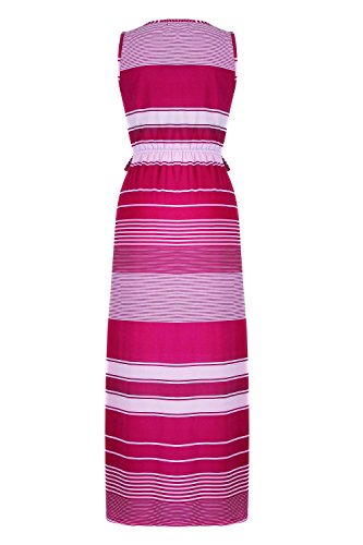 G2 Chic Women's Printed Summer Maxi Dress(DRS-MAX,PNKA1-S)