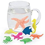 Kidsco Growing Animals Sea Life - Pack of 12 Creatures Figures, 1.25'' to 2'', Assorted Colored Animals - Grows Like Magic in Water - Fun Toy for Kids Boys and Girls, Party Favor, Gift, Prize