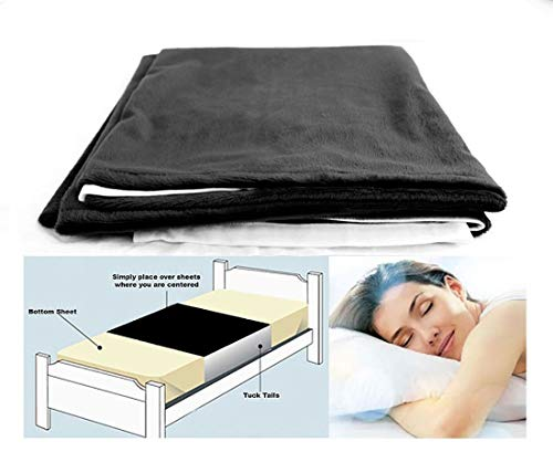 Cycleliners Period Bed Sheets Protector - Waterproof, Leakproof, Reusable, and Washable Menstrual Bed Pad (King, Black)